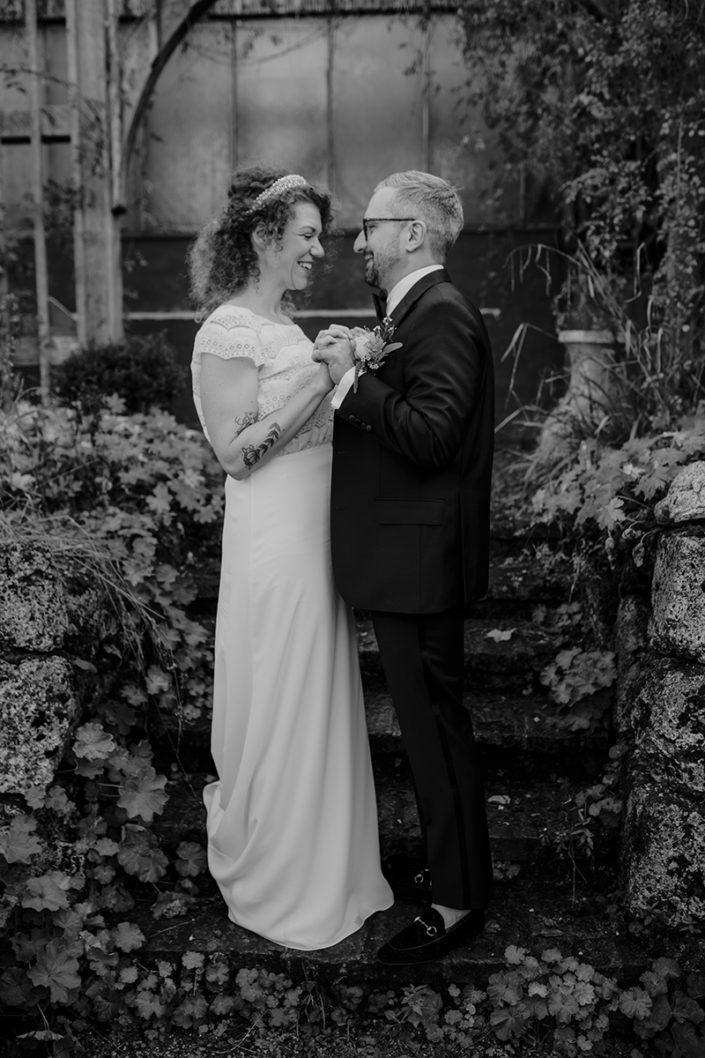 Die alte Gärtnerei, Paarshooting, First Look, Hochzeit