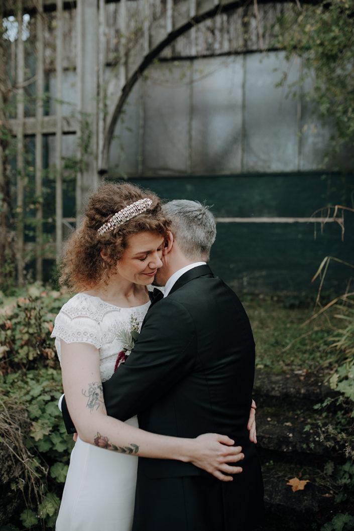 Hochzeit, Paarshooting, First Look, Die alte Gärtnerei
