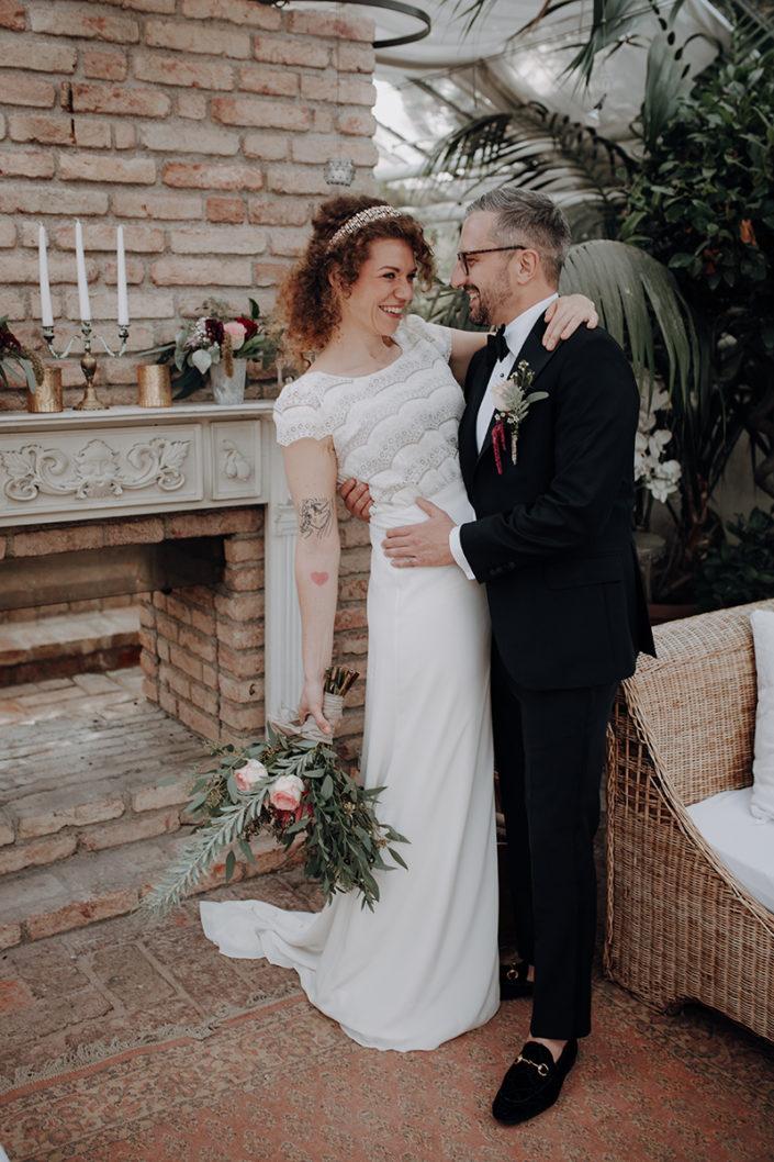 die alte Gärtnerei, Brautpaar, Hochzeit, Boho