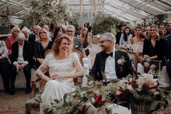 Trauung, Hochzeit, die alte Gärtnerei, Freude, Lachen