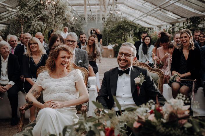 Trauung, Hochzeit, die alte Gärtnerei, Lachen