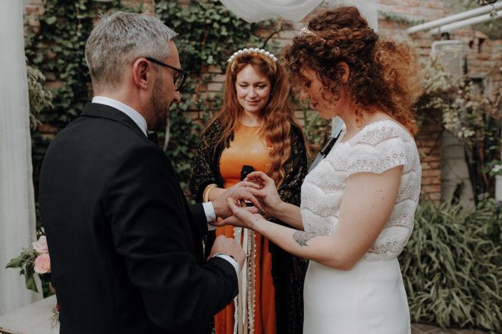 Trauung, die alte Gärtnerei, Hochzeit, Ringwechsel