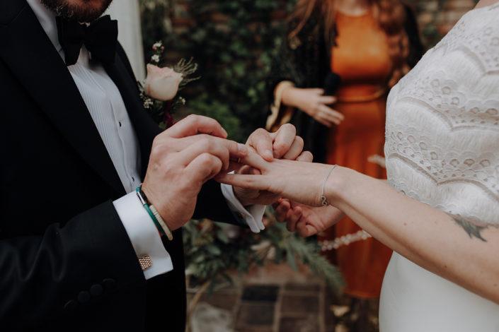 die alte Gärtnerei, Hochzeit, Ringwechsel, Trauung
