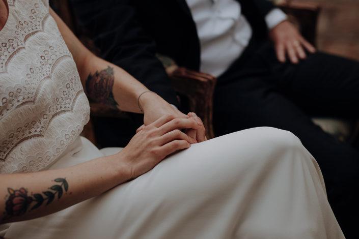 Hochzeit, Hände, die alte Gärtnerei, Trauung