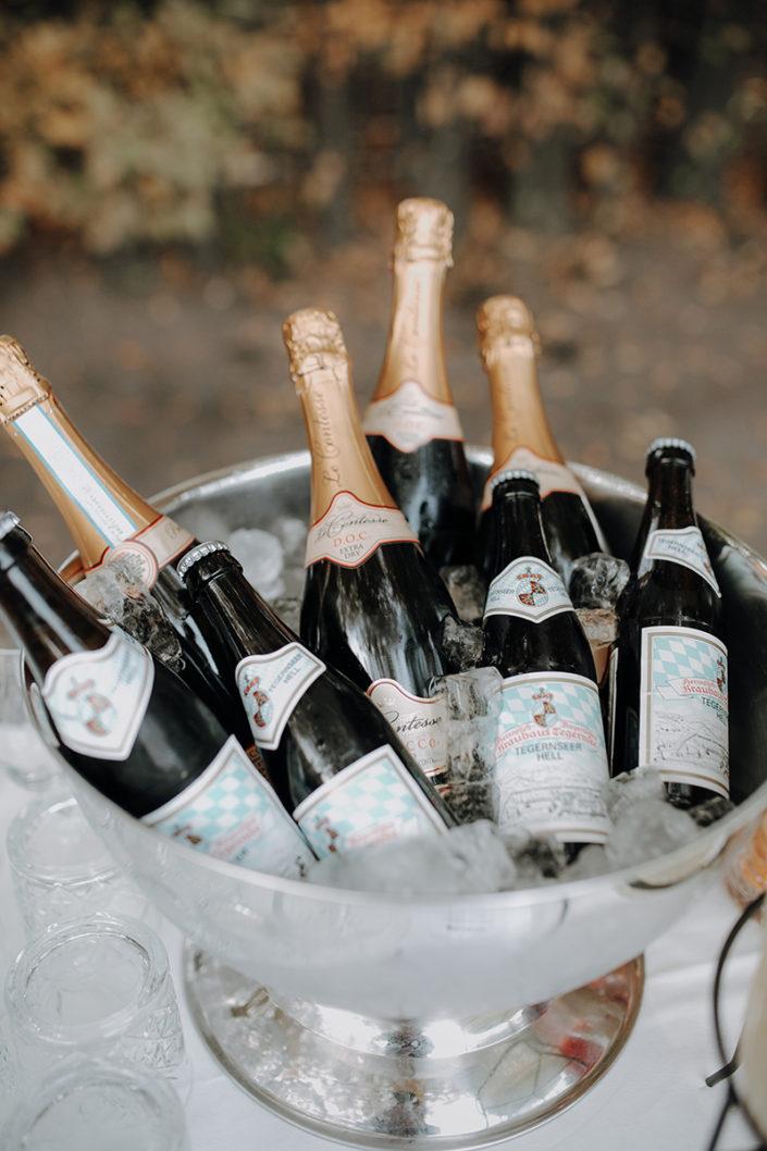 Hochzeit, die alte Gärtnerei, Bier, Champagner