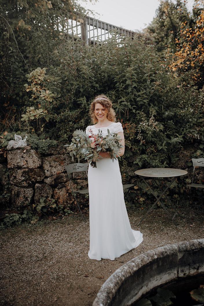 Die alte Gärtnerei, First Look, Braut, Brautstrauss, Hochzeit
