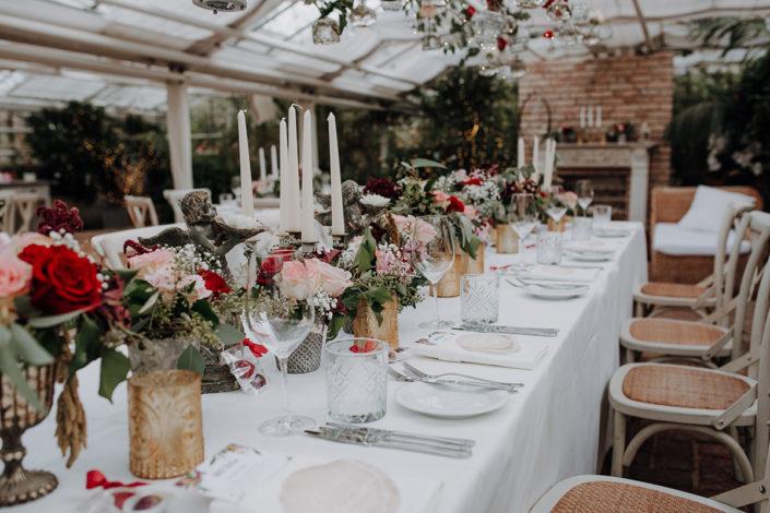 Hochzeit, Tischdekoration, Die alte Gärtnerei
