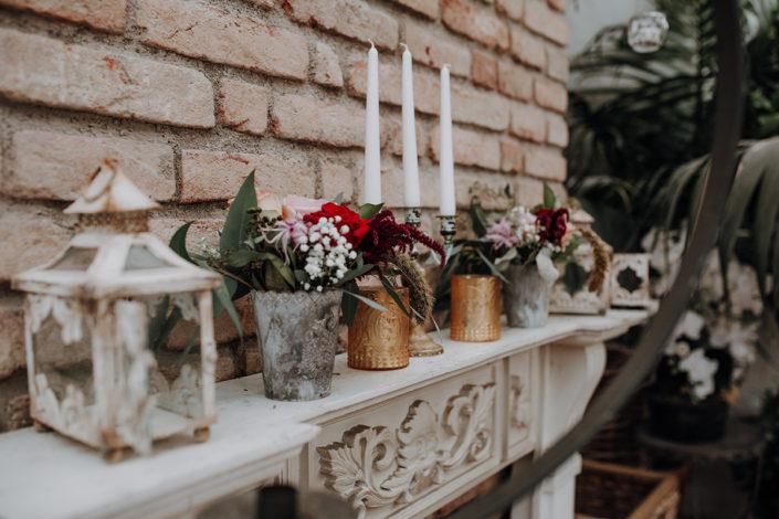 Die alte Gärtnerei, Hochzeit, Dekoration