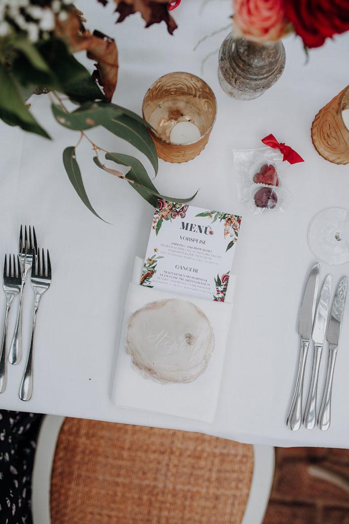 Tischdekoration, Hochzeit, die alte Gärtnerei