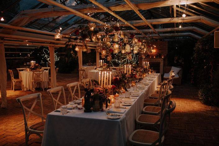 Fairy Lights, Tischdekoration, Dinner, Hochzeit, die alte Gärtnerei