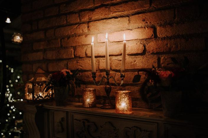 Kerzen, Hochzeit, die alte Gärtnerei
