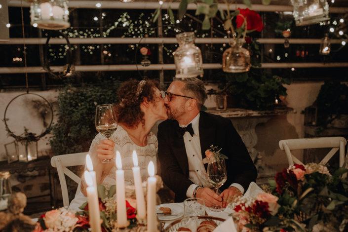 die alte Gärtnerei, Feier, Kuss, Hochzeit, Dinner