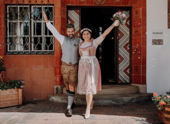 Linda & Benny, Kleine Hochzeit im Leeberghof am Tegernsee